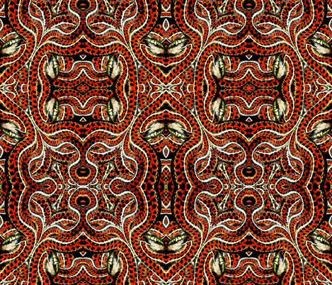 Snake weave fabric by whimzwhirled on Spoonflower - custom fabric