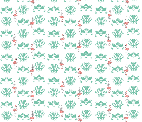 Small Flamingo2013 fabric by nikky on Spoonflower - custom fabric