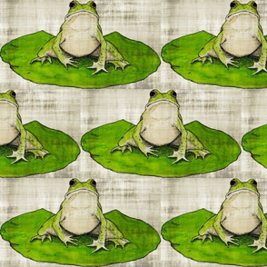 Linen Jumbo Frog