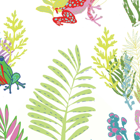 Froggy-design fabric by emilythomas on Spoonflower - custom fabric