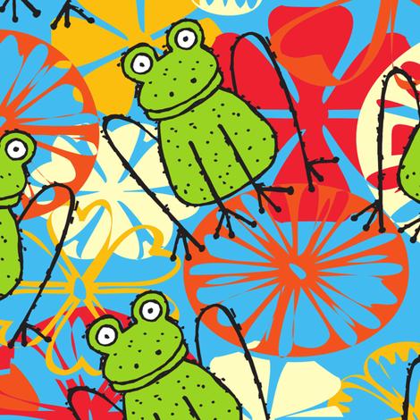 Freckles the Funky Froggie fabric by deeniespoonflower on Spoonflower - custom fabric