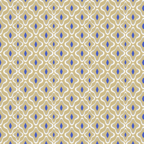 Kemper Cobalt fabric by lulabelle on Spoonflower - custom fabric