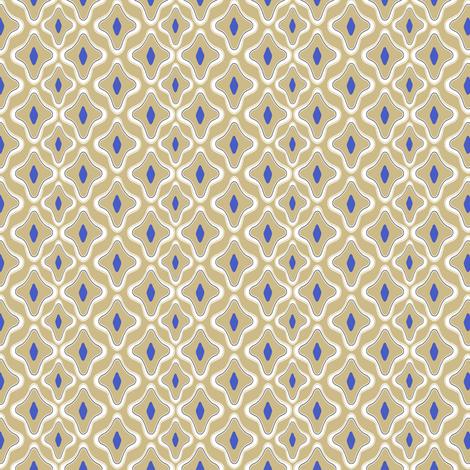 Kemper Cobalt fabric by lulabelle on Spoonflower - custom fabric