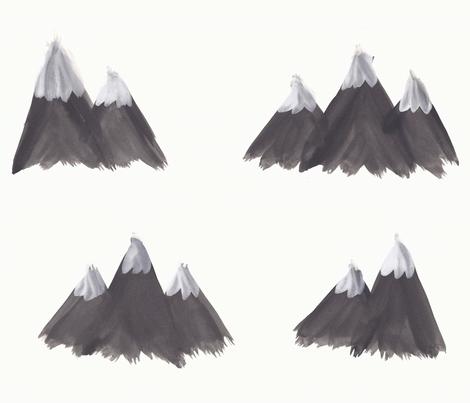 Snowy mountains fabric by krust on Spoonflower - custom fabric