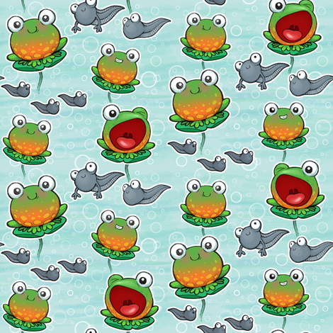 baby_ditsy_frogs fabric by woodmouse&bobbit on Spoonflower - custom fabric