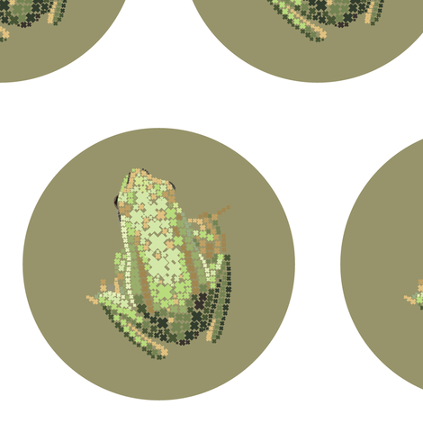 Froggy Mocha Spot fabric by smuk on Spoonflower - custom fabric