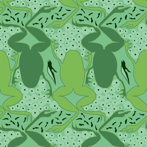 Froggy Life fabric by louisenorman on Spoonflower - custom fabric