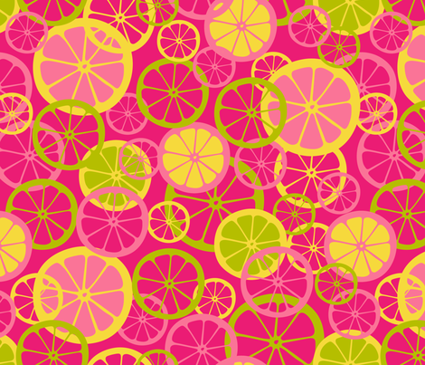 Pink Lemonade fabric by mariafaithgarcia on Spoonflower - custom fabric