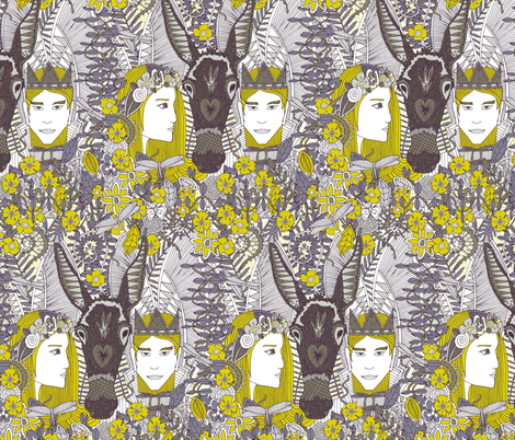 A Midsummer Night's Dream | fairy fantasy fabric by scrummy on Spoonflower - custom fabric