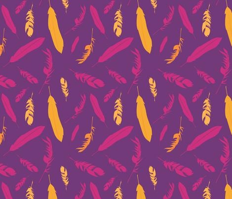 Featherly {Rebel} fabric by printablegirl on Spoonflower - custom fabric