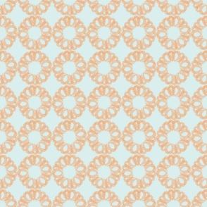 Geometric orange floral