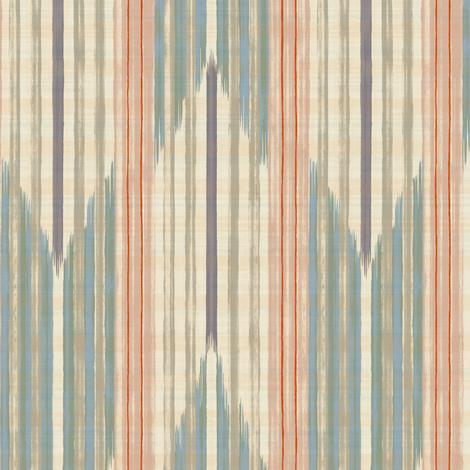 Yagasuri  -aqua blue and pink - fabric by frumafar on Spoonflower - custom fabric