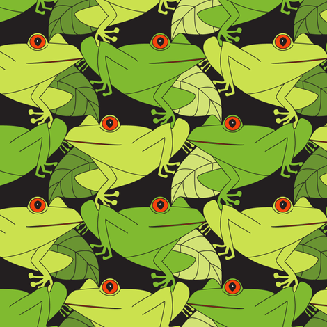 Tessie Tree Frogs fabric by mag-o on Spoonflower - custom fabric