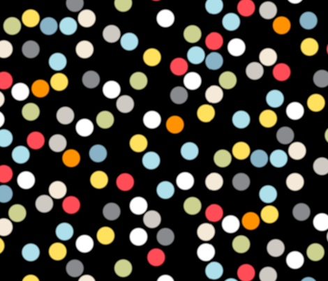 Hocus Focus || photography lights bokeh scatter polka dots circles fabric by pennycandy on Spoonflower - custom fabric