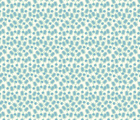 bouquet_mod_vert_S fabric by nadja_petremand on Spoonflower - custom fabric
