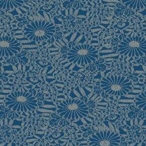Daisy Bouquette - blue, gray