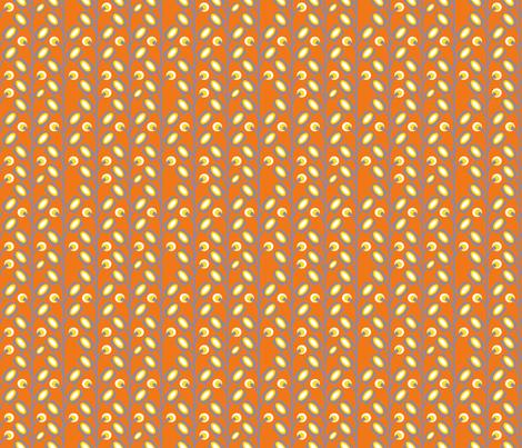 mod_flower_orange_S fabric by nadja_petremand on Spoonflower - custom fabric
