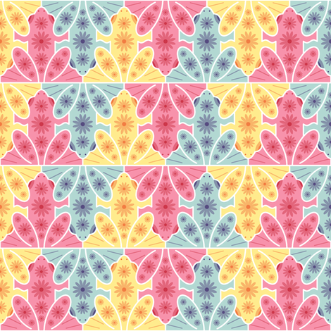 happy hippy hoppy fabric by sef on Spoonflower - custom fabric