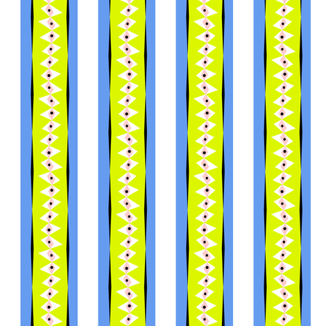 Rabbit's eye stripe II fabric by moirarae on Spoonflower - custom fabric