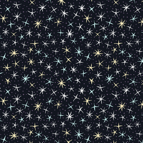 stellate whimsy - starry night fabric by weavingmajor on Spoonflower - custom fabric