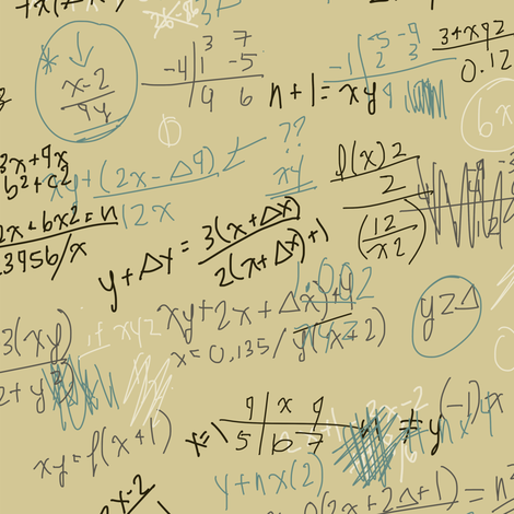 scribbled formulas fabric by maja_studio on Spoonflower - custom fabric