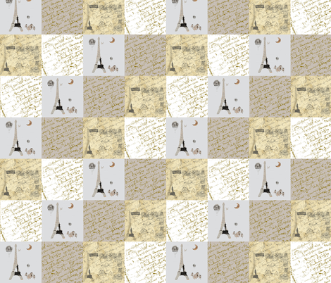 A Little French Quilt fabric by karenharveycox on Spoonflower - custom fabric