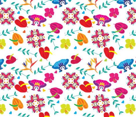 Tropicana Too fabric by lush_kingdom on Spoonflower - custom fabric
