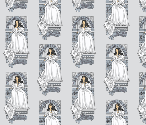 Labyrinth Nouveau fabric by karenhallionart on Spoonflower - custom fabric