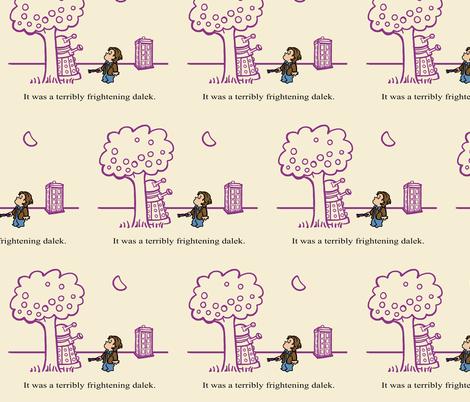 Doctor Harold and the Purple Screwdriver fabric by karenhallionart on Spoonflower - custom fabric