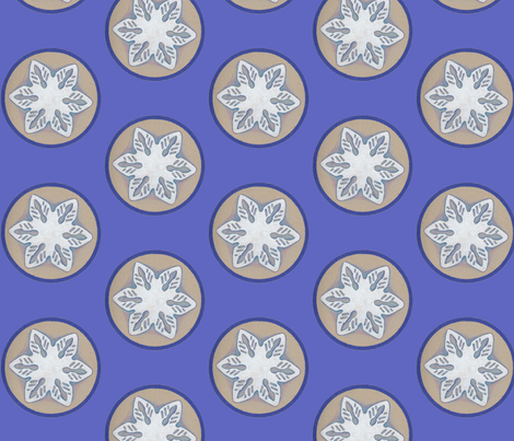Snowflake fabric by addictedtomermaids on Spoonflower - custom fabric