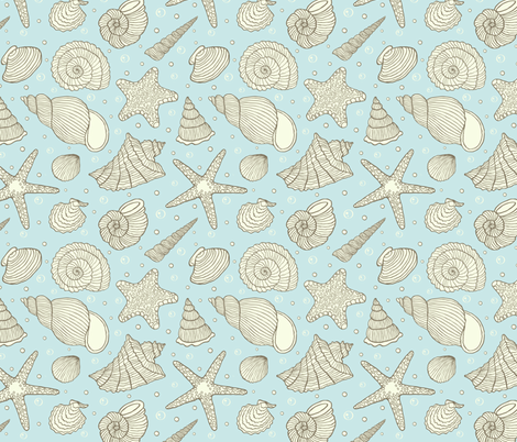 shells fabric by kiyanochka on Spoonflower - custom fabric