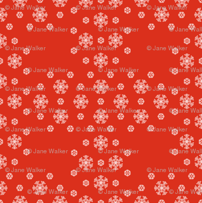 Red Snowflake Weave  ©2013 by Jane Walker