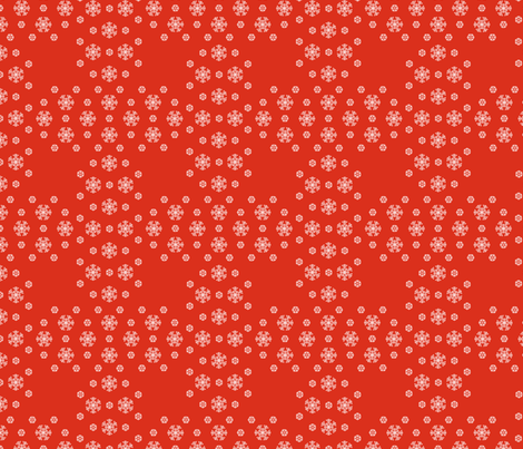 Red Snowflake Weave  ©2013 by Jane Walker  fabric by artbyjanewalker on Spoonflower - custom fabric