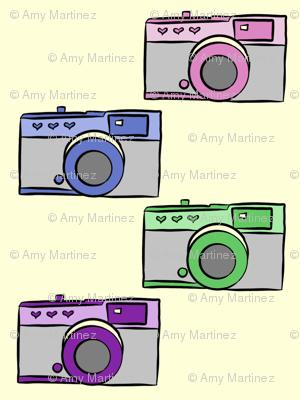 Colorful Vintage Cameras
