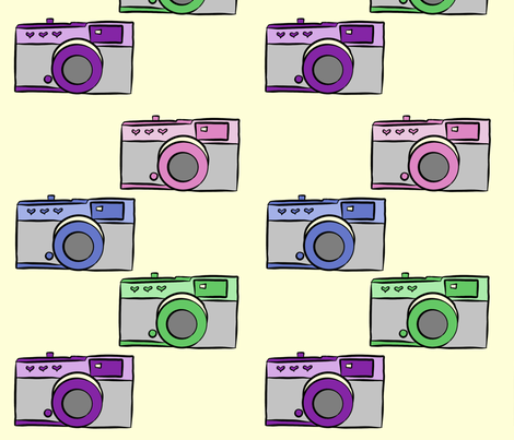 Colorful Vintage Cameras fabric by cozyreverie on Spoonflower - custom fabric