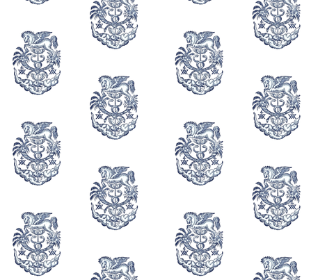 Pegasus Crest fabric by ragan on Spoonflower - custom fabric