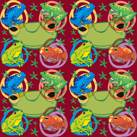 Froggy bubbles fabric by scifiwritir on Spoonflower - custom fabric