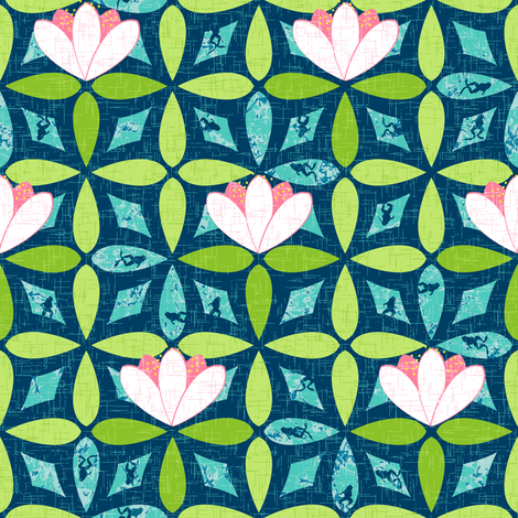 Shy Little Frogs fabric by inscribed_here on Spoonflower - custom fabric
