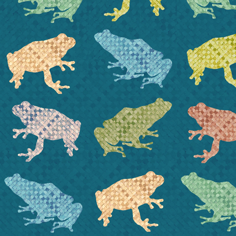 frog_weave fabric by spacecowgirl on Spoonflower - custom fabric