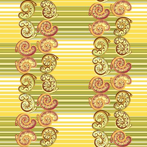 Nautilus_clocks_and_stripes fabric by art_on_fabric on Spoonflower - custom fabric