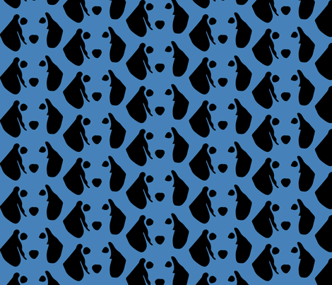 Dachshund Blue fabric by mariafaithgarcia on Spoonflower - custom fabric