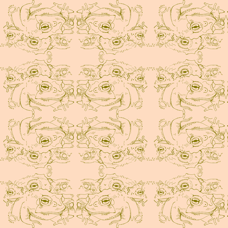 frog toads fabric by maryclaus on Spoonflower - custom fabric