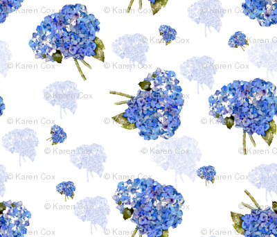 Whispers of Hydrangea Nosegays