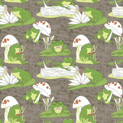 Hop Over to My Pad fabric by meg56003 on Spoonflower - custom fabric