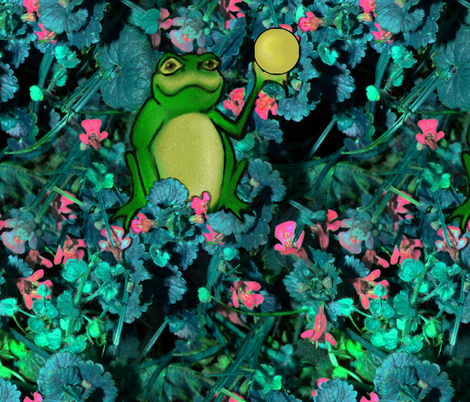 """Weep No More, Highness!  For I Have Found Your Golden Ball!"" said the little frog fabric by peacoquettedesigns on Spoonflower - custom fabric"