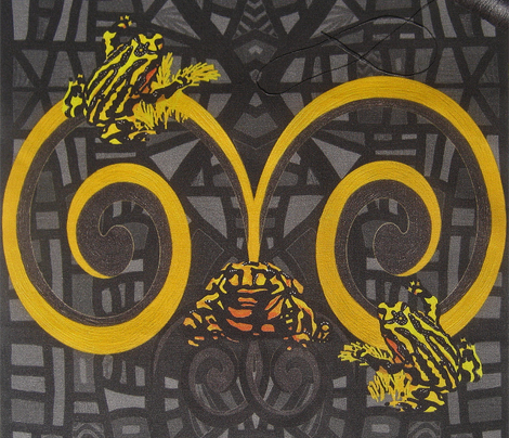 Corroboree frogs go deco in spring by Su_G