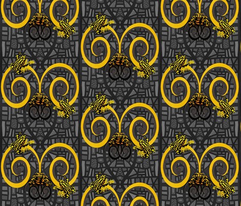 Corroboree frogs go deco in spring by Su_G fabric by su_g on Spoonflower - custom fabric