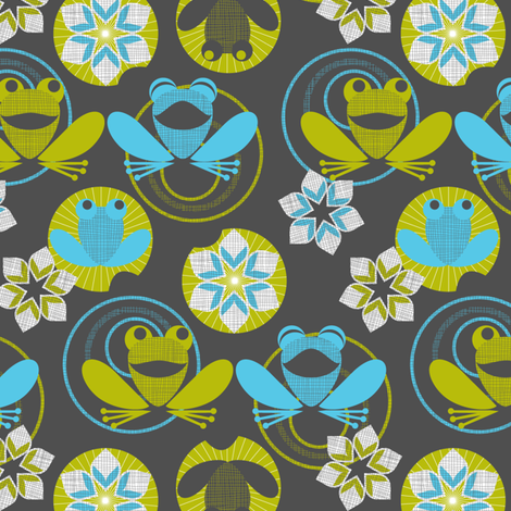 Laughing frog fabric by cjldesigns on Spoonflower - custom fabric