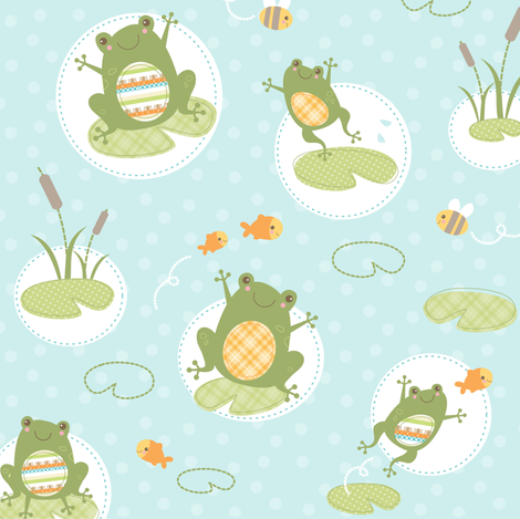Hop to it! fabric by maudie&ma on Spoonflower - custom fabric