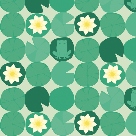 froggies fabric by juliannlaw on Spoonflower - custom fabric